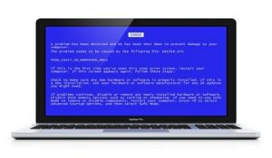 Apple MacBook Blue Screen Error